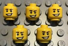 5 X NEW LEGO Yellow Male Heads Smile Smirk Eyebrows Dimple Minifigures Lot 33