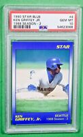 1990 STAR KEN GRIFFEY JR. BLUE #4 PSA 10 🏦 Mariners HOF 🏦 Pop 6