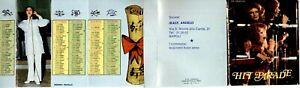 HIT PARADE 1975 Rarissimo Calendario tascabile BATTISTI CELENTANO PRAVO GOGGI