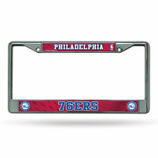Philadelphia 76ers NBA Chrome Metal License Plate Frame