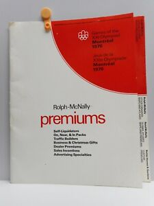 Vintage - Rolph-McNally Promotional Folder - Licensee for 1976 Montreal Olympics