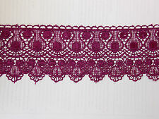 11cm purple embroidered guipure lace bridal wedding dress prom trim veil net