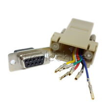 Extender F/F Female DB9 Female to RJ45 RS232 Female Adapter Connector Converter