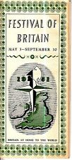 The Festival of Britain May 3-September 30 1951 Old Booklet Exhibitions Art