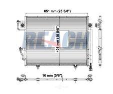 A/C Condenser Reach Cooling 31-4699 fits 01-06 Mitsubishi Montero 3.8L-V6