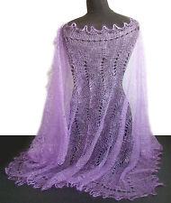 Chale Etole russe couleur Lilas Cadeau original Femme Etole Chale Lilas tricote