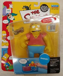 Simpsons Barney Gumble WOS, Action Figure by Playmates, NIP (9A)