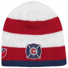 Chicago Fire SC Authentic Draft Cuffless Knit Hat MLS Adidas Official Beanie