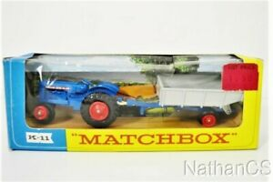Vintage MATCHBOX K-11 Fordson Tractor And Trailer Diecast Toy In Box