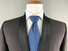 Vtg Lord West Black Shawl Collar One Button Tuxedo Formal Summer Wedding Suit