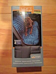 9L/KURGO WATERPROOF BENCH SEAT COVER FOR DOGS/BLUE/GRAY/NEVER USED/BOX!