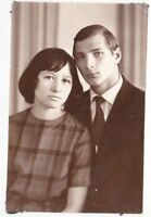 1960s Beautiful couple young handsome man woman old Russian Soviet photo