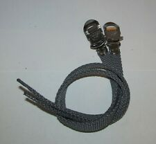 MKS Bicycle Pedal Toe Straps A-First Grey Nylon New Old Stock 420mm NEW NOS