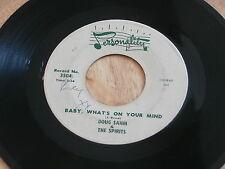 DOUG SAHM & THE SPIRITS~BABY WHAT'S ON YOUR MIND~CRAZY CRAZY FEELIN~ POP 45