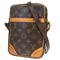 Auth LOUIS VUITTON Danube Shoulder Bag Monogram Leather Brown M45266 89MB539
