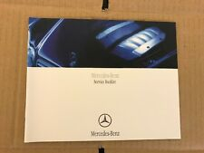 MERCEDES SERVICE BOOK M ML CLASS W163 W164 W166 270 320 Owners Handbook Manual