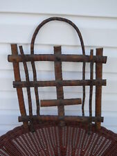 TRAMP ART WOOD MAGAZINE RACK 17 INCHES TALL 12 1/2 INCHES WIDE