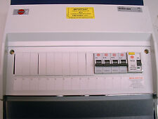 Wylex 14 way consumer unit c/w 4 x mcbs and 100a RCD incomer. New and boxed