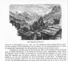 Ruine Ringgenberg Brienzer See HOLZSTICHE von 1883 Burg Unspunnen Schweiz