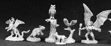 Familiar Pack 2 Reaper Miniatures Dark Heaven Legends Owl Hawk Imp Rat Dragon