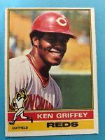 1976 Topps Baseball Card #128 Ken Griffey Cincinnati Reds