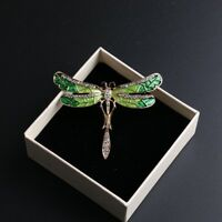 Fashion Wedding Bridal Crystal Animal Dragonfly Enamel Brooch Pin Jewelry Gift