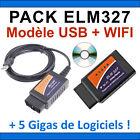PACK DIAGNOSTIC COMPLET MULTIMARQUES CODE ERREUR MOTEUR ELM327 USB + ELM WIFI
