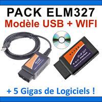 ★ PACK DIAGNOSTIC ★ VALISES DIAGNOSTIQUE MULTIMARQUES - ELM327 USB ELM 327 WIFI