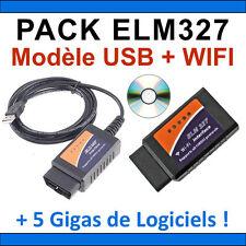★ EXCLUSIVITE ★ PACK DIAGNOSTIQUE MULTIMARQUES OBD2 - ELM327 USB + ELM 327 WIFI