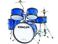 DXP 5-PIECE JUNIOR DRUM KIT  Metallic Blue Padded Stool and Sticks Metallic Blue