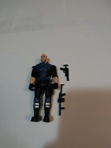 Soldier Toy Action Figure Used Blue Armor With Random Items
