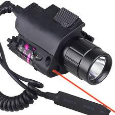 Cow CREE Led Flashlight Red Laser Sight pictatinny Rail Fit Pistol/Glock #a08