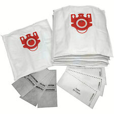 Microfiber Vacuum Bags Designed to Fit Miele FJM Models 15-pack with 6 Filters