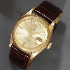 Rare 1966 Rolex 1803 President 18K Gold Day Date Man's Watch, Stunning!, NO RES!