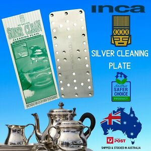 Silver Cleaning Plate by Inca Super Clean-Easily Removes Dirt & Tarnish