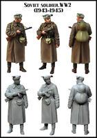 Evolution Miniatures 1:35 WWII Soviet Soldier 1943-1945 #2 Figure Kit #EM-35149