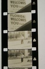 HOME MOVIE FLORIDA 1955 B &W 16MM FILM ROLLED NO REEL D40