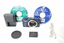 Canon EOS M 18.0 MP Digital Camera Blue Body Only From Japan Exc++