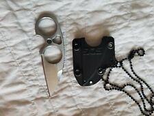 SOG SNARL Stainless Satin Full Tang Finger Hole Fixed Sheepsfoot Knife JB01KCP