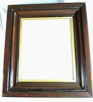 Antique Walnut picture frame for 10x12 in. art or mat, good glass, ready to hang