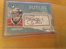 10-11 2010-11 BETWEEN THE PIPES JUSTIN POGGE FUTURE STARS AUTOGRAPH GOALIEGRAPH