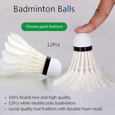12pcs White Goose Feather Badminton Ball Shuttlecocks Sport Training Game FA