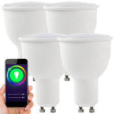 4x WiFi Colour Changing LED Light Bulb –4.5W GU10 Full RGB– SMART Dimmable Lamp