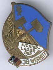 DDR seltenes Abz. Pionier-Lager der JG Wismut -goldfarbend, teils emailliert, RR