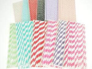 Heavy Duty Drinking Straws Crafts Designer Color Polka Dots Stripes Gold Silver