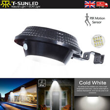 PIR Motion Detective 12LED Solar Gutter Light Wall Spot Roof Outdoor Garden Lamp