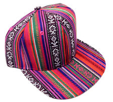 PINK STRIPED NAVAJO PRINT SNAPBACK HAT CAP ABSTRACT AZTEC NATIVE AMERICAN RETRO