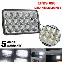 """4X6"""" 45W LED Headlight Hi/Lo DRL Sealed Beam Projector For H4651 Kenworth"""