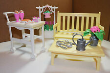 Vintage 1996 Mattel Barbie Flower Garden Play Set and Accessories for Summer