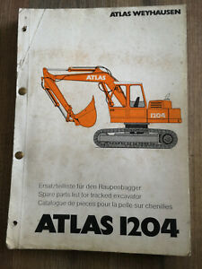 ATLAS 1204 Ersatzteilliste für Raupenbagger 2.